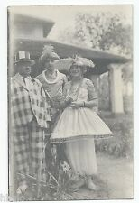 BM308 Carte Photo vintage card RPPC Indochine groupe déguisement fun funny
