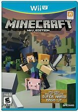 MINECRAFT Wii U EDITION * NINTENDO Wii U * BRAND NEW FACTORY SEALED!