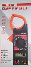 New DT266C LCD Digital Clamp Meter Multimeter DC AC Ohm Amp Voltage Data Hold