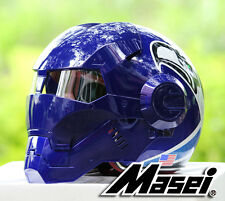 Masei 610 Blue Seagulls Atomic-Man Auto Racing Motorcycle Carting Helmets ARAI