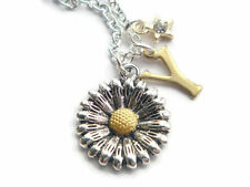 Sunflower Necklace Personalised Initial Daisy Necklace Star Charm Necklace BFF