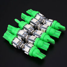 10Pcs T10 Car Vehicle Interior 5050SMD 5-LED Green Wedge Light Bulb Universal