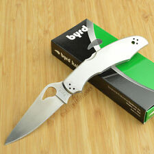 Couteau SPYDERCO BYRD CARA CARA 2 Stainless Plain Acier 8Cr13Mov BY03P2