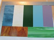"VARIETY PACK 4""x8"" ALL Spectrum Glass Stained Glass Mosaic Tile Scrap"