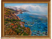 BIG SUR Large California Art oil canvas 30x40 by Galina Zaytseva Free Shipping