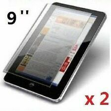 "2 x PROFESSIONAL SCREEN PROTECTOR FOR 9"" INCH ANDROID TABLET PC EPAD APAD UK"