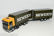 TEKNO BASED DAF 95 NEWEXCO WINSCHOTEN TRUCK WITH TRAILER N MINT RARE SELTEN