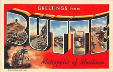 Large Letter postcard Greetings from Butte Metropolis of Montana