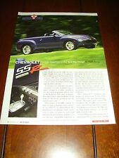 2003 CHEVROLET SSR - MUSCLE TRUCK  ***ORIGINAL ARTICLE***