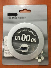 Car Tax Disc Holder Silver Classic Collectable