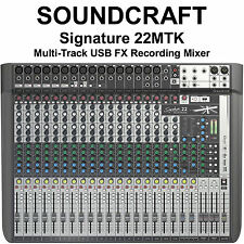 SOUNDCRAFT SIGNATURE 22MTK Multi-Track FX USB Recording Mixer $40 Instant Off