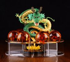 Hot Dragonball Z Shenron+7 Star Crystal Ball+Display Stand Comic Toy Collection