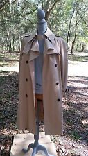 ETIENNE AIGNER, AUTHENTIC TRENCH COAT, Leather trim, Fully Lined, size 12