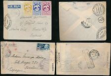 FRENCH AFRICA 1940 + 1942 AIRMAIL to GB + SPAIN via NIGERIA...2 COVERS
