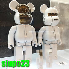 Medicom 400% Bearbrick ~  Daft Punk Be@rbrick White Suits Ver 2p