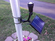 NEW Premium 350 LUX LED Solar Flagpole Light with ZOOM Feature