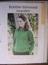 Bobble-Trimmed Sweater Pattern from The Art of Knitting Magazine
