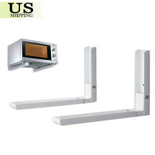 Foldable Stretch Shelf Rack For Microwave Oven Wall Mount Bracket Adjustable