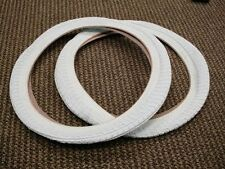 BICYCLE TIRES 18 X 195 X 2.0 WHITE FIT MANY KIDS BIKES NEW SET 18 INCH