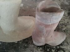 """CONCRETE PLASTER MOLD LATEX ONLY  7.5""""tall boot_ planter"""