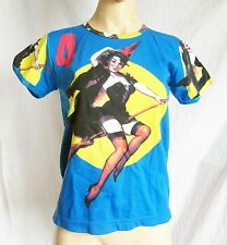 Retro Pin Up witch/kitch/rocabilly T shirt,size M 10-12