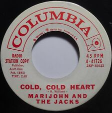 MARIJOHN and the JACKS ~ ROCKABILLY country 45 PROMO COLD COLD HEART hear