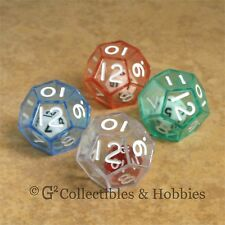 NEW Set of 4 DOUBLE DICE D12 RPG Game Math Twelve Sided