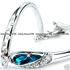 UNIQUE BLUE TEAR CRYSTAL BRACELET LOVE HER GIRL COUPLE WIFE XMAS VALENTINES GIFT