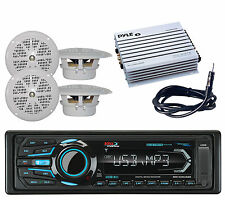 Boss Bluetooth Marine AM/FM iPod iPhone USB Radio, 4  Speakers,Amplifier,Antenna