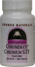 ChromeMate Chromium GTF, Source Naturals, 120 tablet