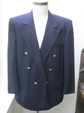 Mens Vintage  Burberrys  Navy Blue Wool Blazer Double breasted nice buttons