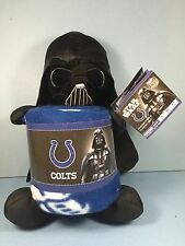 NEW! Star Wars Darth Vader / Indianapolis Colts - Throw Blanket & Toy Plush