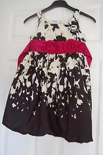 BEUATIFUL GIRLS BONNIE JEAN PARTY DRESS AGE 6 BLACK & IVORY PINK BELT