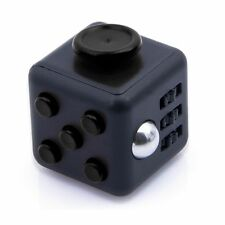 BLACK FIDGET CUBE DESK TOY STRESS ANXIETY RELIEF PUZZLE ADULT ADHD AUTISM THERPY