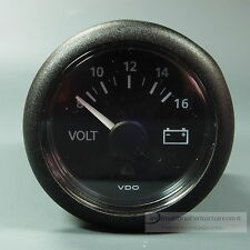 VDO MARINE VOLTMETER INSTRUMENT GAUGE 12V 52mm  new Generation schwarz
