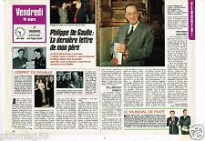 Coupure de presse Clipping 1988 (2 pages) Philippe De Gaulle