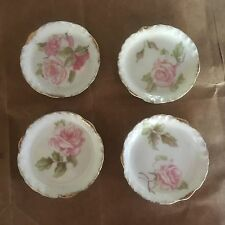 Set Of 4 Antique RC Monbijou Rosenthal Bavaria 3.5'' Accessory Plates Mint-