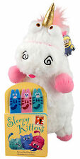 "Despicable Me 26"" Unicorn Plush IT'S SO FLUFFY!!! & Sleepy Kittens Puppet Book"