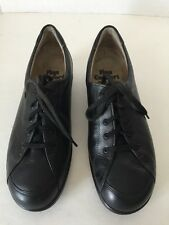 FINN COMFORT Black Leather oxfords Casual Walking Shoes sz 7.5 Germany GUC