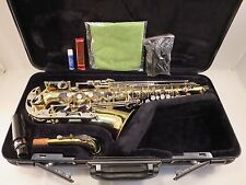 Yamaha YAS 23 Alto Saxophone Sax Professionally Serviced Japan W/ All Gear NICE!