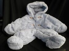 ROTHCHILD BLUE PLUSH BUNTING SNOWSUIT  Puppy Dogs blue 0-6 MONTHS
