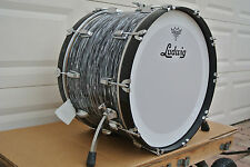 "LUDWIG USA CLASSIC BLACK OYSTER PEARL 22"" BASS DRUM for YOUR DRUM SET! #C67"