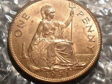 1951 George VI penny - uncirculated.