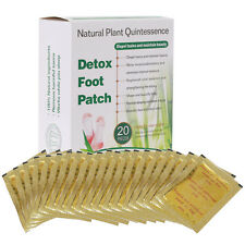 20 Packs Gold Detox Foot Patch Bamboo Vinegar Pads Improve Sleep Beauty Slimming