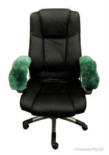 Sheepskin Armrest Office Arm Chair Cover Fit All Wheelchair Scooter Genuine Wool