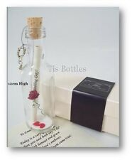 On Our Wedding Day Gift PERSONALISED Message in a Bottle Present for Bride/Groom