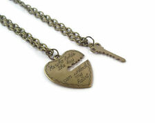 Key To My Heart Couples Necklaces, Pair Romantic Jewellery, His and Her, Brass