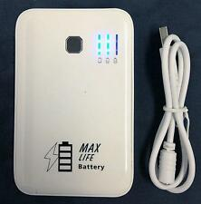 Mighty Max 5000mAh Portable White Power Bank Battery Charger for  Ipad / Ipod