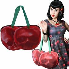 NEW KREEPSVILLE 666 Cherry Teschio A Tracolla zip tote bag gothic punk emo Fashions