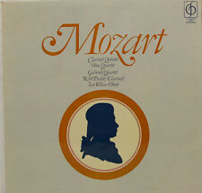 """MOZART CLARINET QUINTET OBOE QUARTET GABRIELI QUARTET PUDDY WILSON 12"""" LP (c810)"""